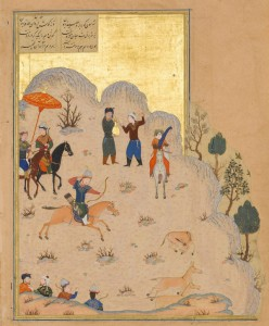 Bahram_Gur's_Skill_with_the_Bow_-_Haft_Paikar